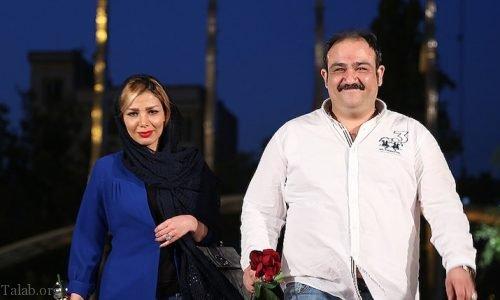 مهران غفوریان در حال لاغر کردن (مهران غفوریان و همسرش آرزو)