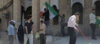 جوانان عراقی شهر بصره در اقدامی جالب کنسولگری ایران را آب و جارو (عکس)