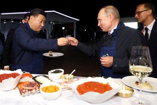 مسابقه آشپزی پوتین با رئیس جمهور چین شی جین پنگ ( فیلم + عکس)