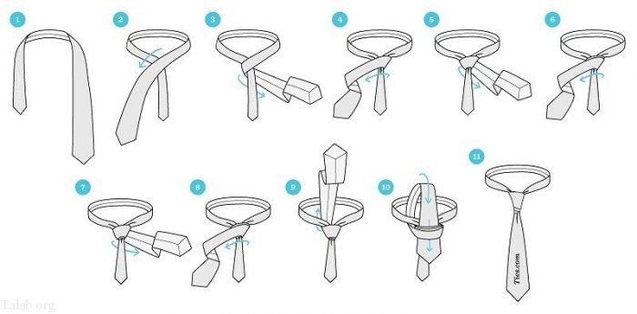آموزش تصویری بستن کراوات | 12 مدل بستن کراوات