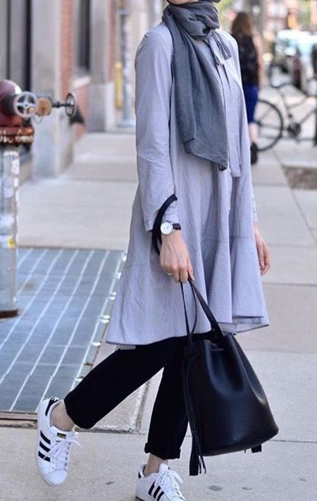 مدل مانتو دانشجویی 99 | مانتو بلند و با حجاب ویژه دانشگاه 1399