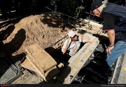 حضور کمرنگ هنرمندان در مراسم خاکسپاری بازیگر سعید کنگرانی