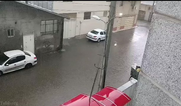 بارش باران شدید پاییزی در شهر بابل – مازندران (فیلم)