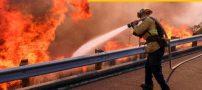 عکس هایی از شهر سوخته در آتش سوزی کالیفرنیا