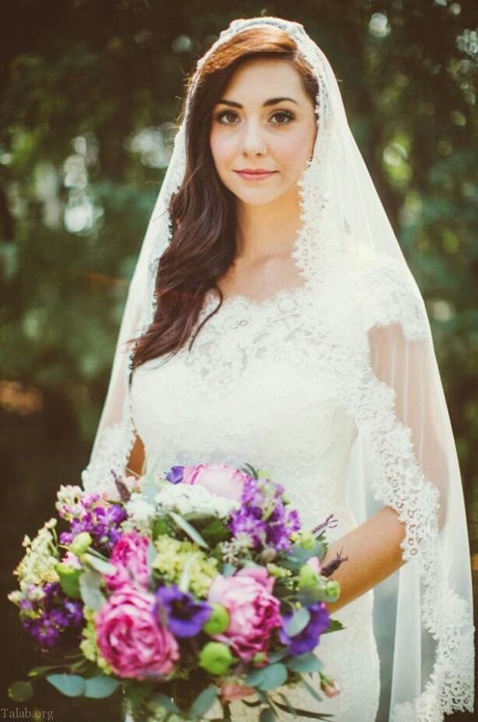 مدل تور سر عروس در طرح های جدید و شیک 2019