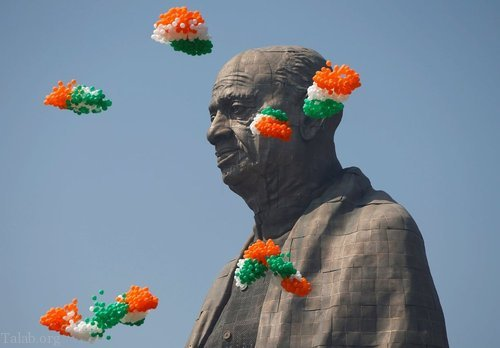 بزرگترین مجسمه جهان در هند رونمایی شد «عکس»