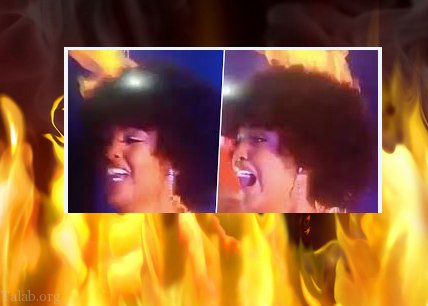 آتش گرفتن دختر شایسته 2019 آفریقا در حین مراسم (عکس)