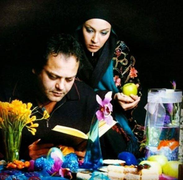 عکس های پیام صابری و همسرش زیبا بروفه