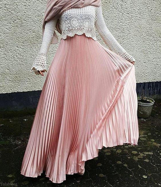 مدل دامن بلند زنانه و دخترانه جدید 1399 | زیباترین مدل دامن بلند 2020