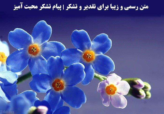 متن رسمی و زیبا برای تقدیر و تشکر | پیام تشکر محبت آمیز