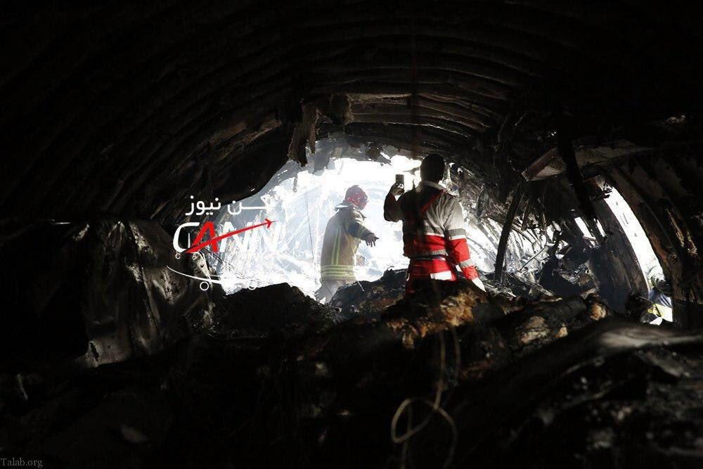 سقوط هواپيماى بوئينگ 707 حامل گوشت در کرج