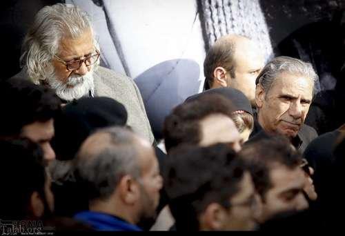 تصاویری از حضور هنرمندان در مراسم تشییع حسین محب اهری