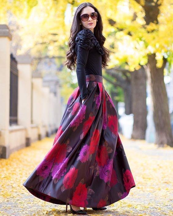 مدل دامن بلند زنانه و دخترانه جدید 1398 | زیباترین مدل دامن بلند 2019