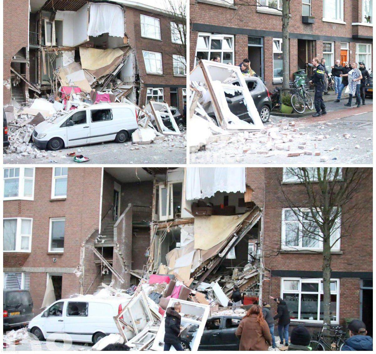 انفجار بزرگ خانه مسکونی در لاهه هلند (عکس)