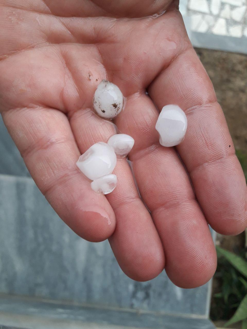 تصاویری از بارش تگرگ + علت بارش تگرگ