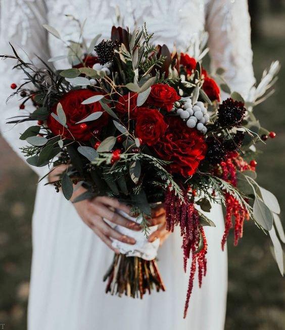 زیباترین مدل دسته گل عروس 98 + گل رز عاشقانه