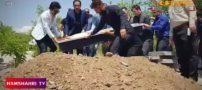 میترا استاد همسر دوم نجفی در کرج به خاک سپرده شد (فیلم)