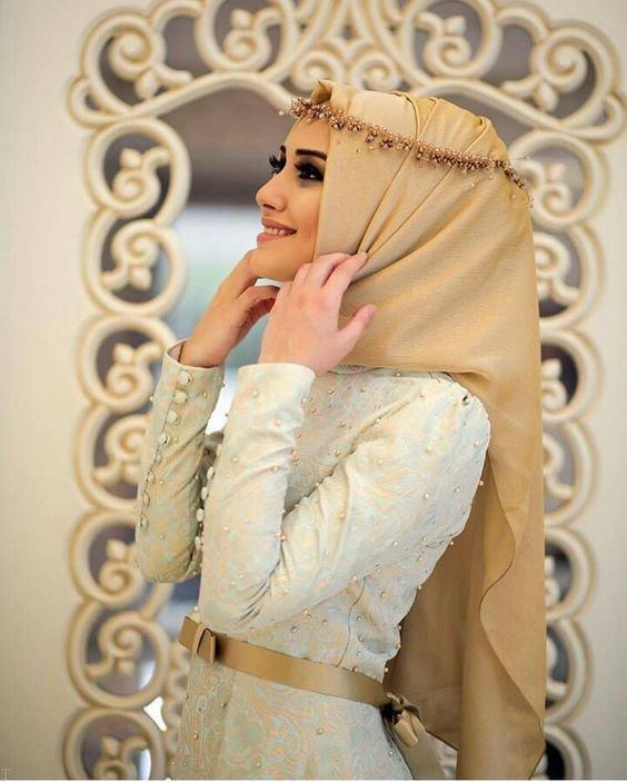 بهترین مدل لباس عروس پوشیده با حجاب 98 - 2019