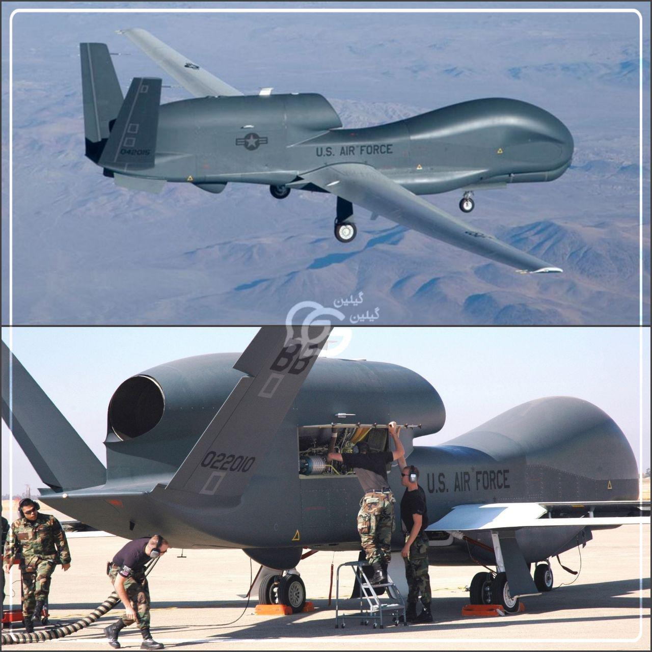 سرنگونی پهپاد جاسوسی آمریکا توسط سپاه پاسداران (عکس)