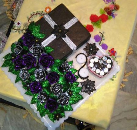 تزیین خنچه عروس و داماد + تزیین حنای عروس + دسته گل عروس