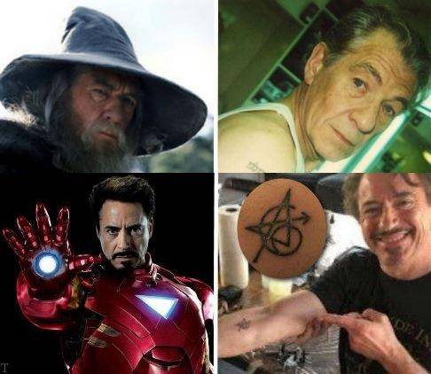 تتو عجیب بازیگران مشهور هالیوود روی بدنشان (عکس)