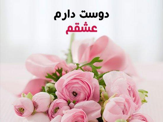 عکس پروفایل گل رز زیبا با عکس نوشته روی گل