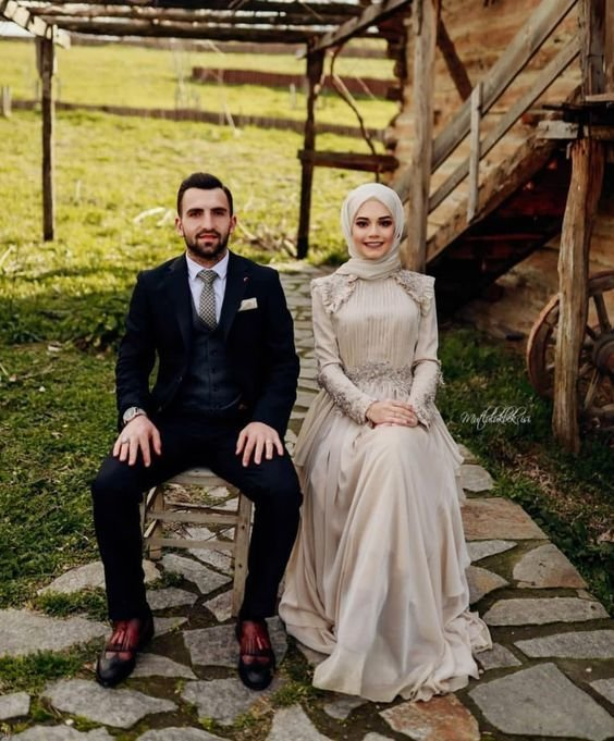 بهترین مدل لباس عروس پوشیده با حجاب 1400 - 2021