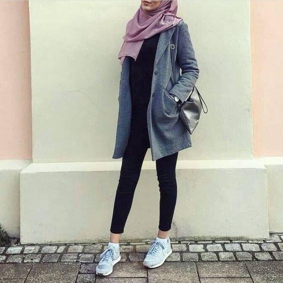 70 مدل مانتو و مقنعه دانشجویی | تیپ دانشجویی دخترانه