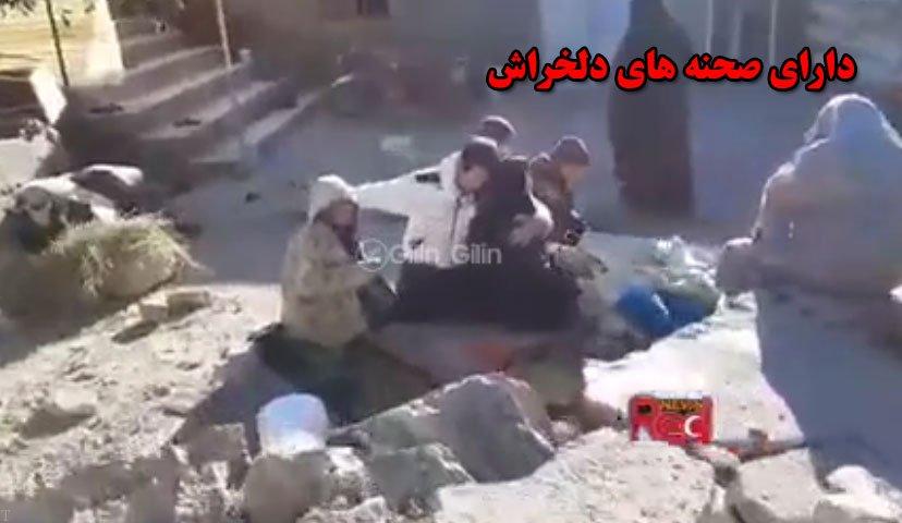 گریه های مادری که در زلزله میانه داغدار کودکش شد (فیلم)