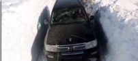 ارتفاع برف در سواد کوه مازندران (فیلم)