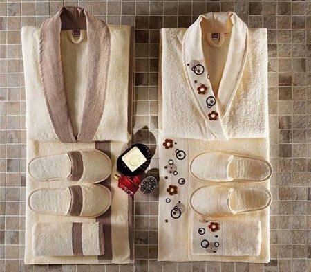 مدل حوله لباسی تن پوش 2020 | حوله حمام عروس و داماد