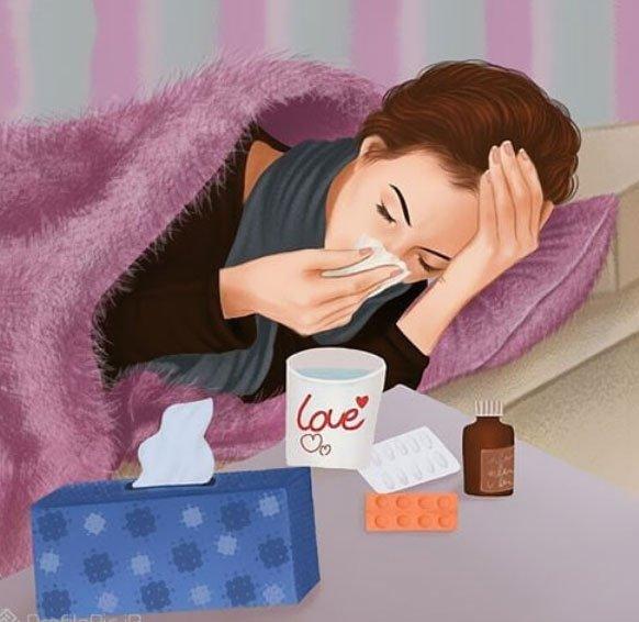 عکس پروفایل مریض شدم + عکس پروفایل سرماخوردگی خر است