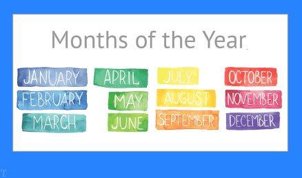 نام ماه های میلادی | همه چیز درباره ماه های میلادی