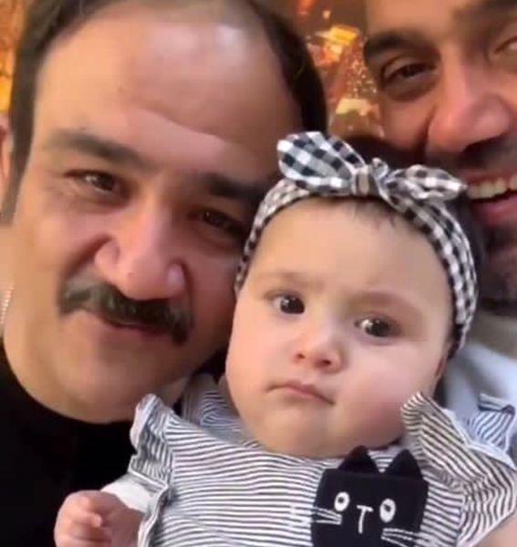 مهران غفوریان و دخترش در جشنواره فیلم فجر (عکس)