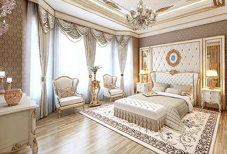بهترین مدل دکوراسیون اتاق خواب های سلطنتی