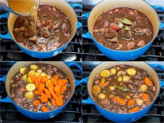 طرز تهیه کاری گوشت بره با سبزیجات