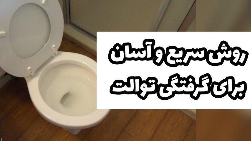 روش سریع و آسان برای رفع گرفتگی توالت
