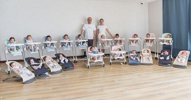 زایمان 11 بچه توسط مادر 23 ساله روسیه ای (عکس)